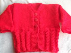 Baby Girl Cabled Cardigan £11.50