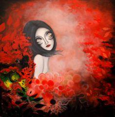 Anamaria – pictura pe panza #art, #Painiting, #Creative