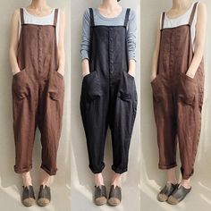 4ccece4d8b77 UK Women Strappy Dungaree Jumpsuits Overalls Harem Pants Trousers Plus Size