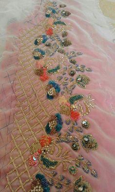Pink Kids Scrubs with Veterinarian Animals Embroidery Design - Embroidery Design Guide Embroidery Suits Punjabi, Zardosi Embroidery, Embroidery On Kurtis, Kurti Embroidery Design, Tambour Embroidery, Hand Work Embroidery, Couture Embroidery, Shirt Embroidery, Hand Embroidery Designs