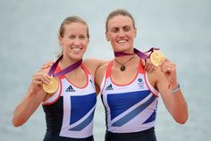coxless pair of Helen Glover and Heather Stanning won the country's first gold of London 2012 at Lake Dorney