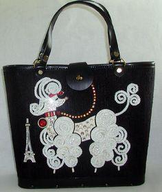 Vintage Poodle Motif Handbag