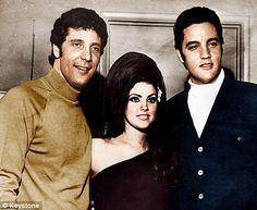 Tom Jones, Pricilla Presley and Elvis in Las Vegas during the Sixties