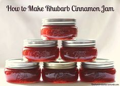Rhubarb Cinnamon Jam Recipe - Doing this today. Hoping I can find a way to can rhubarb in a way that keeps some of the texture intact so I can use it in crumbles and muffins later