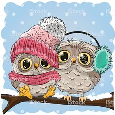 Illustration about Cute Cartoon Chicken in a hat and scarf. Illustration of image, computer, happiness - 79723092 Owl Clip Art, Owl Art, Cute Owl Drawing, Cute Owl Cartoon, Owl Vector, Vector Art, Cartoon Chicken, Illustrator, Christmas Owls
