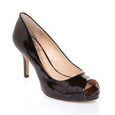 Vince Camuto Kiley Patent Leather Peep-Toe Pump