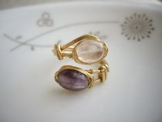 Double Stone Wired Ring