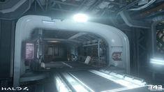 Hallway in Halo 4, Jihoon Kim on ArtStation at https://www.artstation.com/artwork/4l1WW