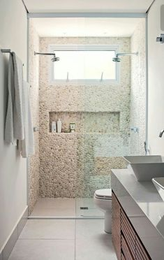 This Is How To Remodel Your Small Bathroom Efficiently, Inexpensively Bathroom Design Small, Bathroom Layout, Simple Bathroom, Bathroom Interior Design, Modern Bathroom, Stone Bathroom, Small Bathrooms, Bathroom Renos, Budget Bathroom