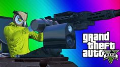 GTA 5 Online Funny Moments - Paper Bag Man, Valkyrie Chopper, Night Owl ...