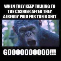 Keep talking to the cashier - meme - http://jokideo.com/keep-talking-to-the-cashier-meme/