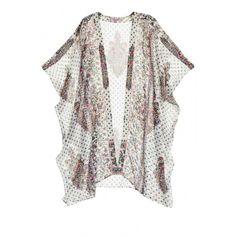 CALYPSO St. Barth Braylee Paradis Silk Kimono Vest ($219) ❤ liked on Polyvore