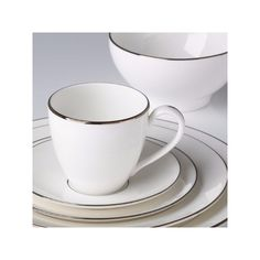 Continental dining platinum 5-piece place setting by lenox ($179) ❤ liked on Polyvore featuring home, kitchen & dining, dinnerware, lenox dinner plates, lenox dinnerware, lenox, lenox china and lenox fine china