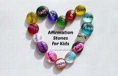 DIY pocket-sized affirmation stones for kids - ideal building confidence & self-esteem