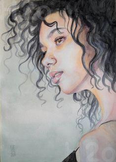 Acuarela Watercolor Portrait Painting, Portrait Paintings, Watercolour, Female, Pen And Wash, Portraits, Pictures, Graphite, Watercolor Painting