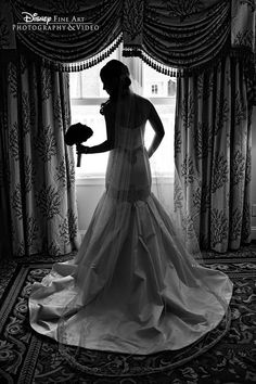 Wedding Photography Ideas : A beautiful silhouette shot of a Disney bride #Disney #wedding #photography #sil