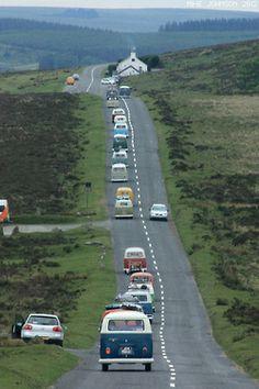 VW camper caravan Ireland