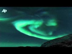 Time Lapse of Aurora borealis in Norway after Solar flare up Jan 2012