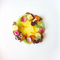 Beets, Carrots & Parsnips, Fennel, Puffed Wild Rice, Honey Crisp Apple Gelée, Lancaster County Saffron by adamseancron on IG