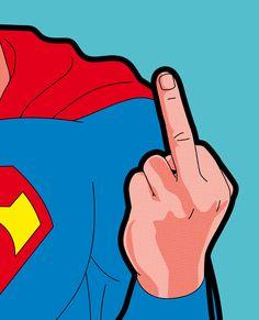 Even a superhero has his limits. by Grégoire Guillemin