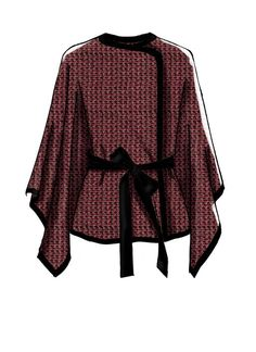 Learn to Sew For Fun sewing pattern from McCall's. M7664 Misses' Capes and Belt with Closure Options