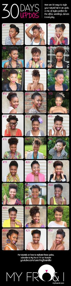 HEALTHY HAIR and BODY: Protective Style Lookbook    30 Ways to Style Natural Hair in an Updo