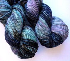 Merino Sock Yarn  Phat Fiber  Hand Dyed by WanderingWool, $20.00