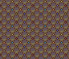 ©2011 the rose window golden shimmer fabric by glimmericks on Spoonflower - custom fabric