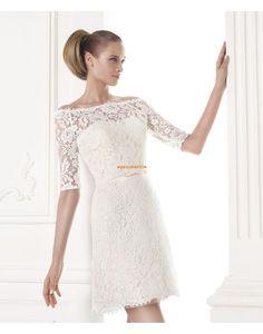 Kurz/Mini Spitzen-Looks Frühling Brautkleider 2015