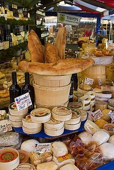 size: Photographic Print: Cheese and Bread on Food Stall at Viktualienmarkt, Munich, Bavaria, Germany by Yadid Levy : Artists Munich Germany, Bavaria Germany, Frankfurt, Cheese Art, Food Stall, Food Inspiration, Travel Inspiration, International Recipes, Germany Travel