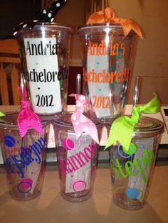 Bacherlorette Tumblers w/Straw 16 oz Sorority Birthday by cgirard5, $10.00