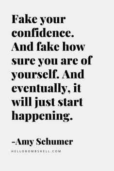 Positive Quotes Discover Confidence quote for women. Fake your confidence. Funny confidence quotes for women by Amy Schumer. How To Be Confident and Not Give a Shit What Anybody Thinks About You. Im not anti social. Im socially selective. Now Quotes, Self Love Quotes, Motivational Quotes, Inspirational Quotes, Being A Girl Quotes, Lyric Quotes, I Give Up Quotes, Quote Girl, Quotes About Self Care