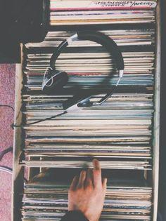 music, vintage, and headphones image