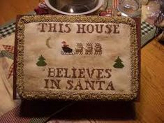 Image result for primitive cross stitch christmas
