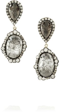 Kimberly McDonald 18-karat rose gold diamond drop earrings on shopstyle.com