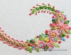 Floral Monogram Colors & Stitches
