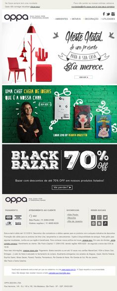Assunto para Email Marketing de Naral - Oppa