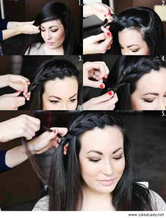 Beautiful hairstyle for black long hair