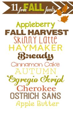 11 FREE fall/autumn Thanksgiving fonts #freefonts