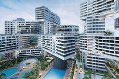 O conjunto de edifícios Interlace em Singapura! Nem dá pra acreditar que é real! Via: @blogdaarquitetura