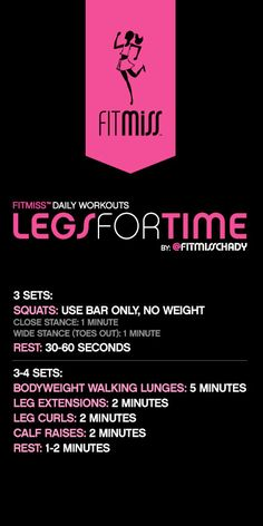 FitMiss Legs For Time Workout