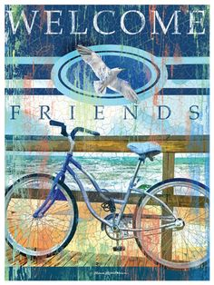 Welcome Friends #Canvas_Art | #coastal #beach