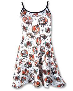 Liquor Brand Damen ANIMAL HOSPITAL Kleid.Oldschool,Tattoo,Pin up,Custom Style