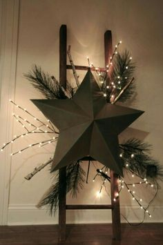 Old ladder with star