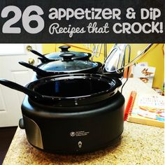 26 Slow Cooker Appetizer and Dip Recipes #SlowCooker #Crockpot #RecipesThatCrock