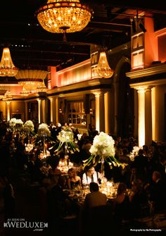 WedLuxe: #wedding #reception with floral design and decor by Designing Trendz
