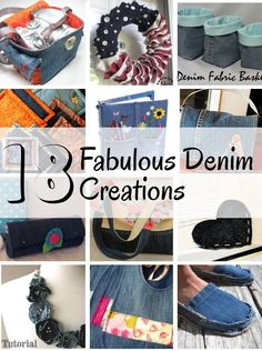 diy home sweet home: 18 Fabulous Denim Creations