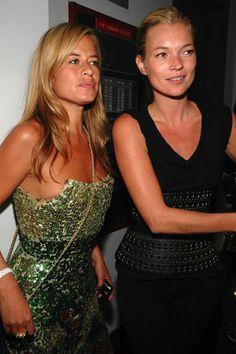 Jade Jagger and Kate Moss, at the David Yurman-sponsored Another Magazine party for cover girl Kirsten Dunst at Milk Studios.