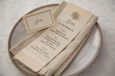 Menu and place-card made from bling diamante ivory cotton paper menu with champagne coloured textured paper and ivory satin ribbon touches. Photo by Rikki Hibbert Wedding Stationery, Wedding Invitations, Slow Cooked Lamb Shanks, Order Of Service, Champagne Color, Paper Texture, Poppy, Place Cards, Seeds