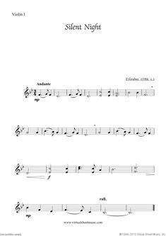 Free Silent Night sheet music for string quartet - High Quality Silent Night Sheet Music, Virtual Sheet Music, Christmas Sheet Music, Music Express, String Quartet, Christmas Carol, Key Change, Piano, Guitar